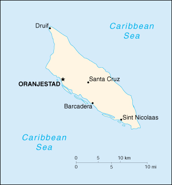 [Country map of Aruba]