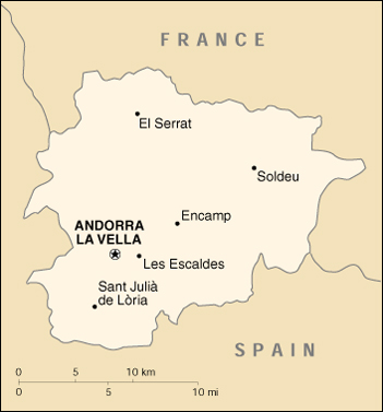 [Country map of Andorra]