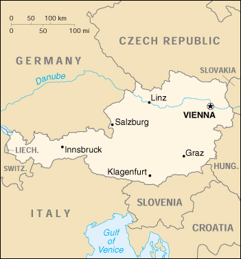 [Country map of Austria]