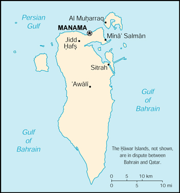[Country map of Bahrain]