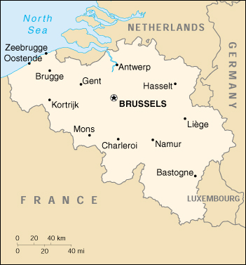 [Country map of Belgium]