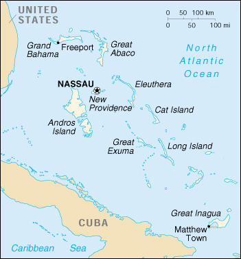 [Country map of Bahamas]