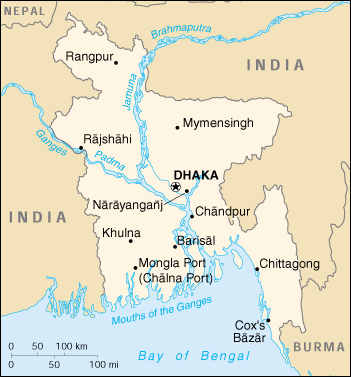 [Country map of Bangladesh]