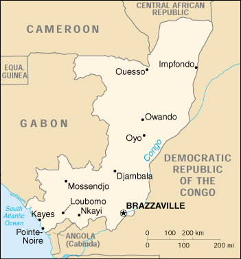 [Country map of Congo, Republic of the]