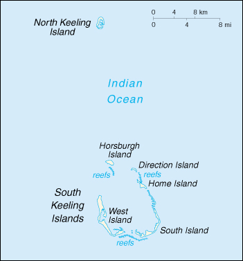 [Country map of Cocos (keeling) Islands]