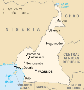 [Country map of Cameroon]