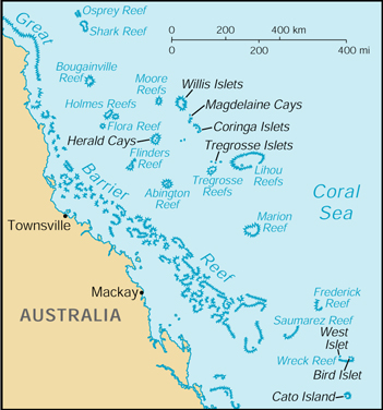 [Country map of Coral Sea Islands]