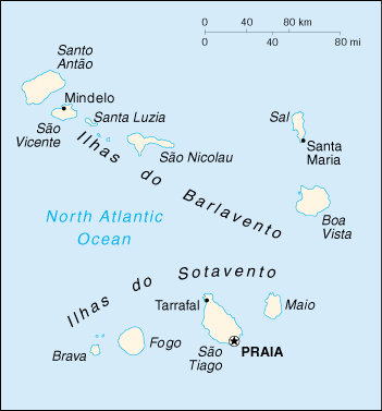 [Country map of Cape verde]