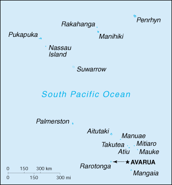 [Country map of Cook Islands]