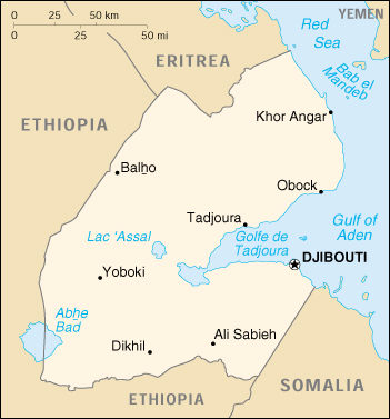 [Country map of Djibouti]