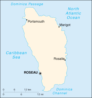 [Country map of Dominica]