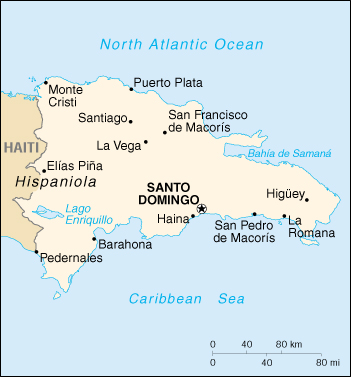 [Country map of Dominican Republic]