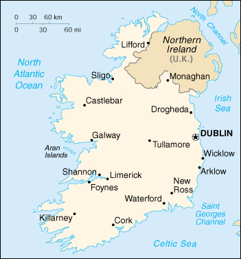 [Country map of Ireland]