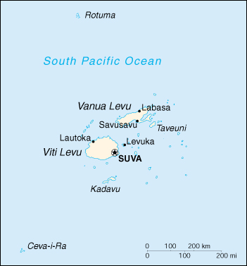 [Country map of Fiji]