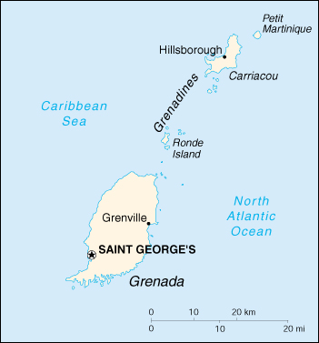 [Country map of Grenada]