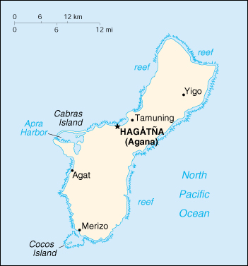 [Country map of Guam]