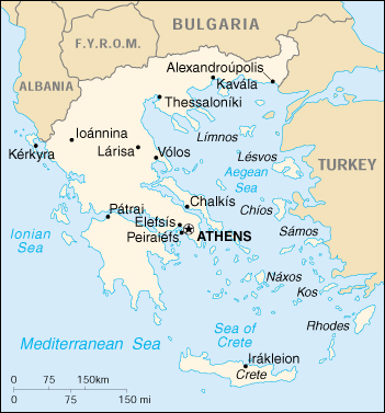 [Country map of Greece]