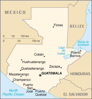 [Country map of Guatemala]