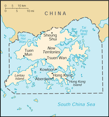 [Country map of Hong Kong]