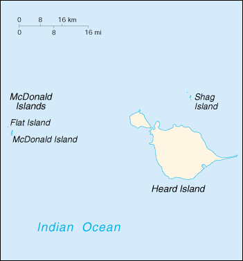 [Country map of Heard Island and McDonald Islands]