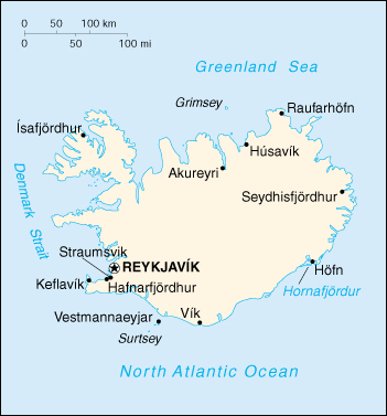 [Country map of Iceland]