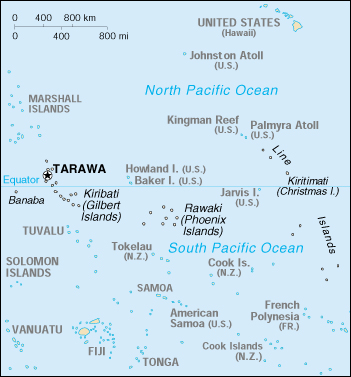 [Country map of Kiribati]
