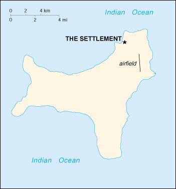 [Country map of Christmas island]