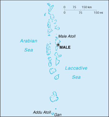 [Country map of Maldives]
