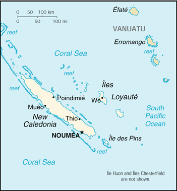 [Country map of New Caledonia]