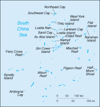 [Country map of Spratly Islands]