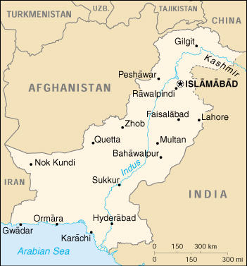 [Country map of Pakistan]