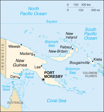 [Country map of Papua New Guinea]