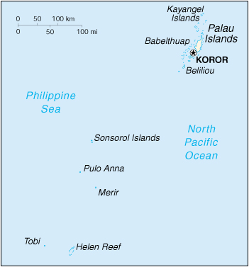 [Country map of Palau]