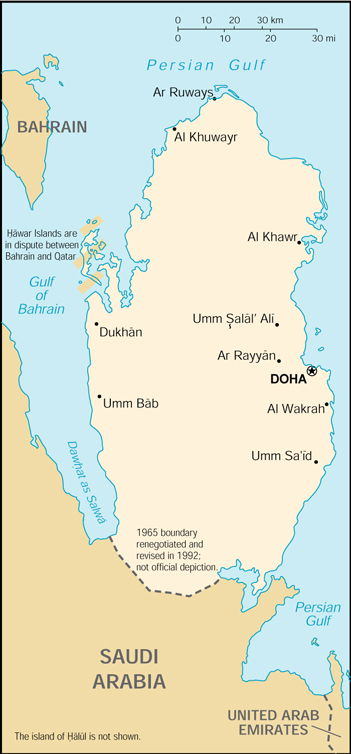 [Country map of Qatar]
