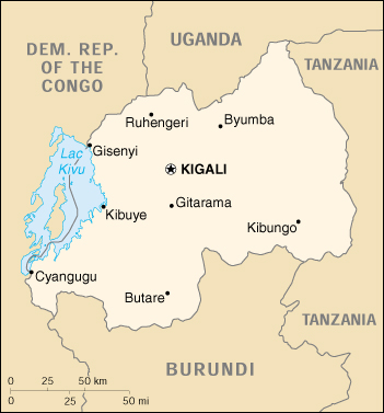 [Country map of Rwanda]
