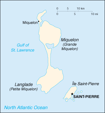 [Country map of Saint Pierre and Miquelon]