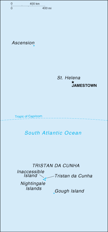 [Country map of Saint Helena]
