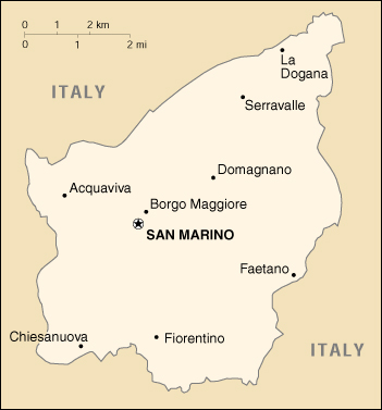 [Country map of San Marino]