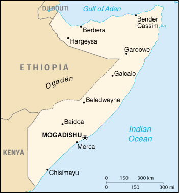 [Country map of Somalia]