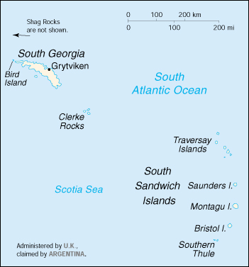 [Country map of South Georgia and the South Sandwich Islands]