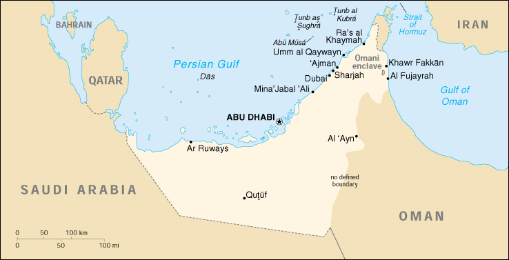 [Country map of United Arab Emirates]