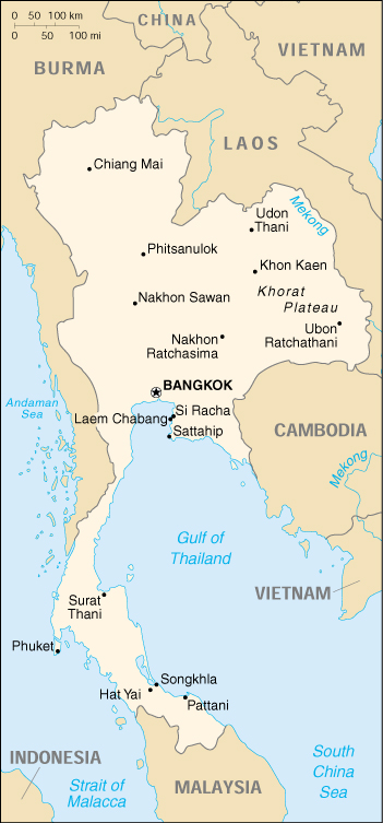 [Country map of Thailand]