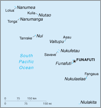 [Country map of Tuvalu]
