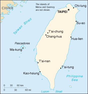 [Country map of Taiwan]