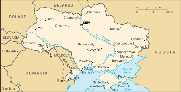[Country map of Ukraine]