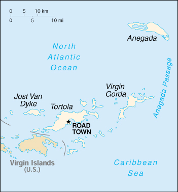 [Country map of British Virgin Islands]