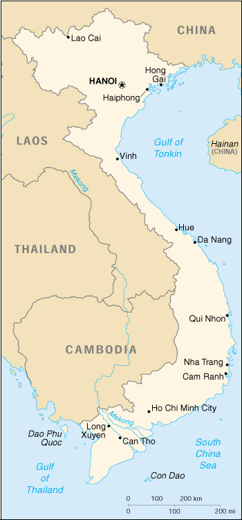 [Country map of Vietnam]
