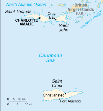 [Country map of Virgin Islands]