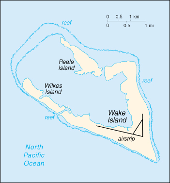 [Country map of Wake Island]