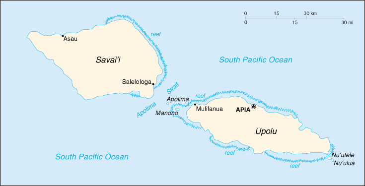 [Country map of Samoa]